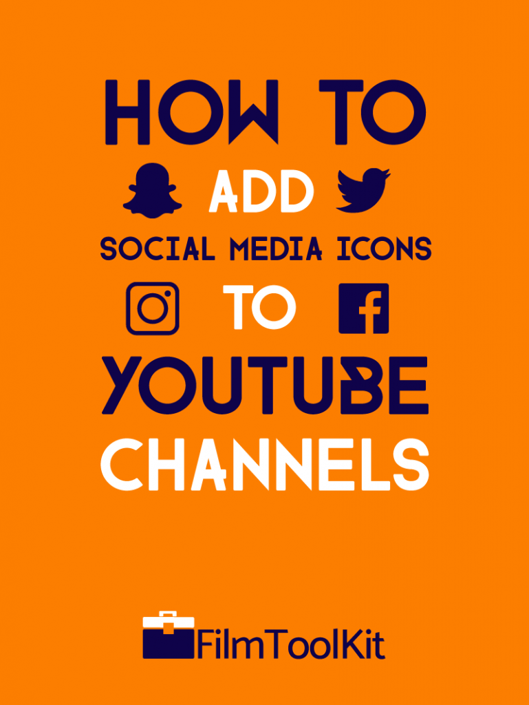 how to add social media icons to youtube channels