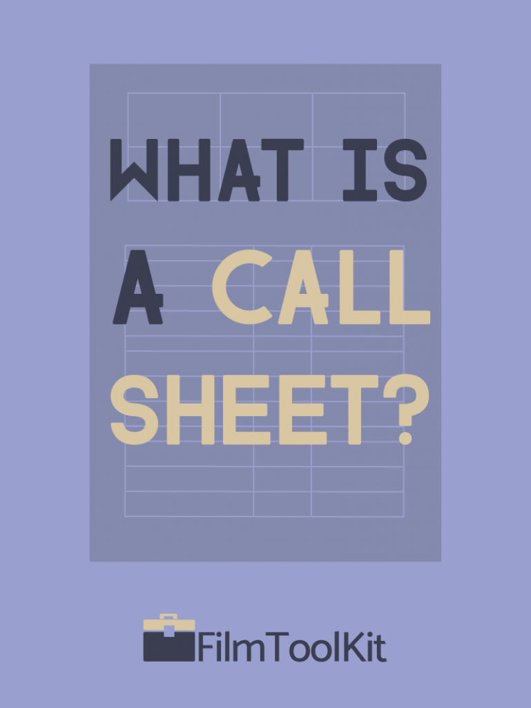 what is a call sheet